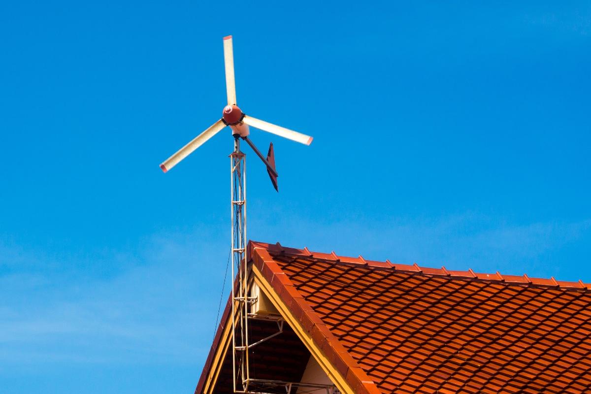 voorbeeld kleine windmolen