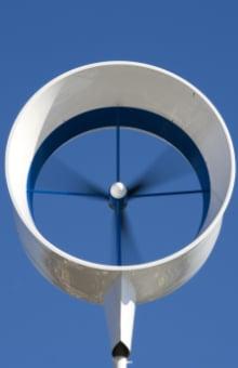 voorbeeld particuliere windmolen dak